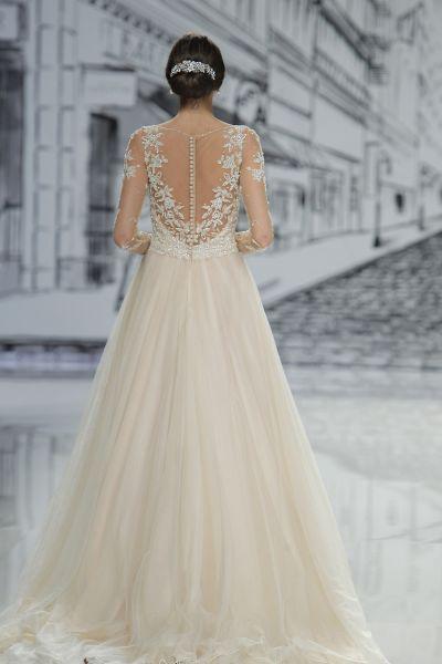 50 vestidos de novia con escote a la espalda 2017: ¡los querrás todos! Image: 29