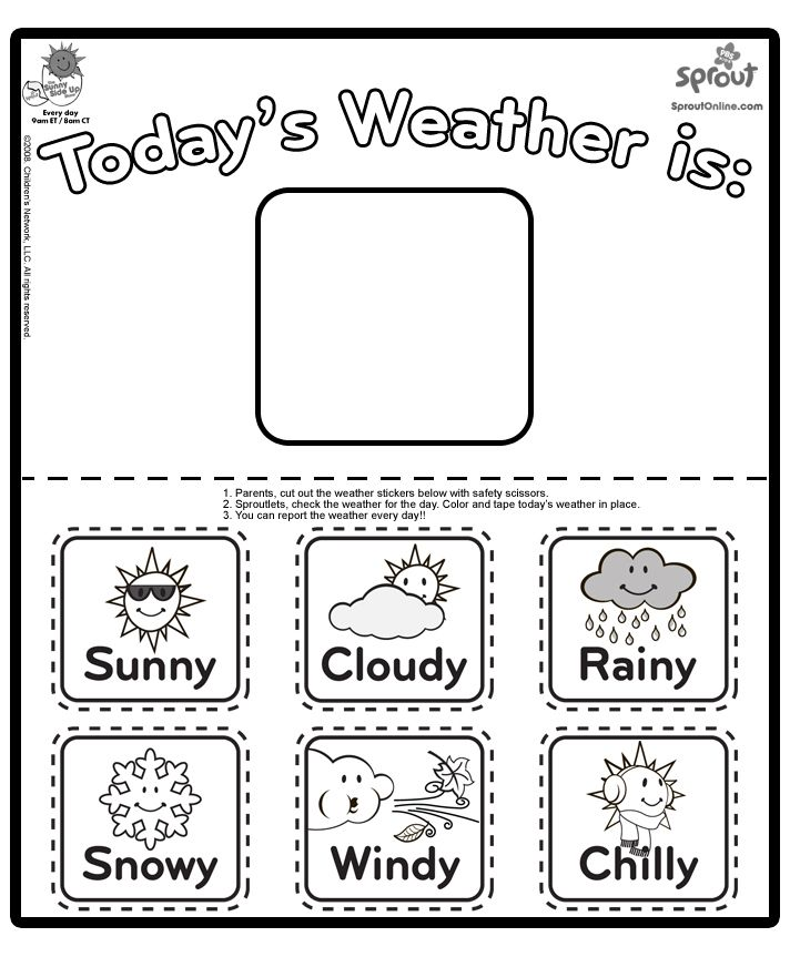 Make As A Set Of Magnets To Help Teach Kids About Weather Chica Report Coloring Page The Sunny Side Up Show Pages For