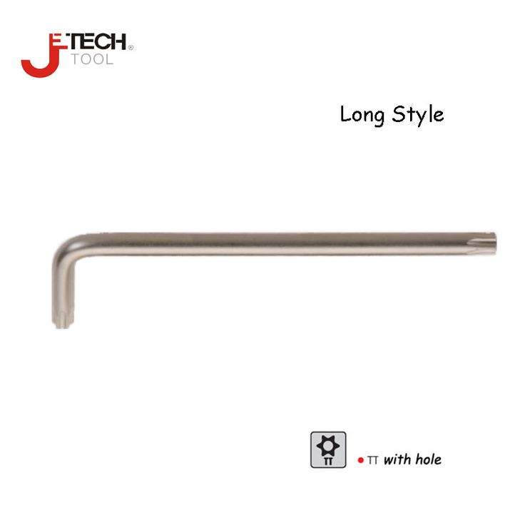 Jetech long tamper proof chave torx key star driver wrench torx head T9 T10 T15 T20 T25 T27 T30 T40 T45 T50 tube key wrench