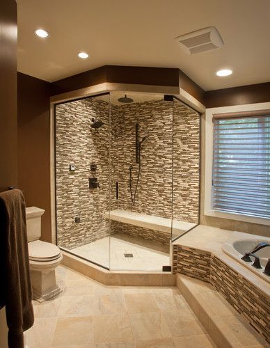 I like the bench seat inside the shower