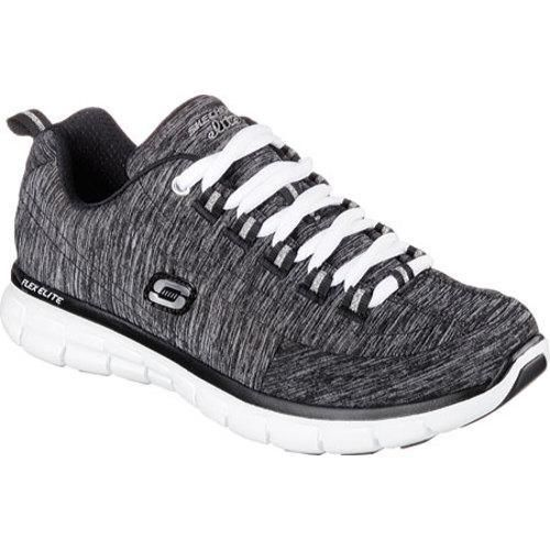 Sporty style and comfort gets it just right in the SKECHERS Synergy - Spot On shoe. Soft heathered jersey fabric upper in a lace up athletic sporty training and walking sneaker with stitching and over