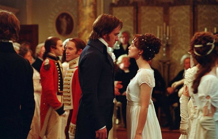 """I loved doing the dancing scenes, that what we did in rehearsals, we had three weeks of rehearsals which is completely unusual. We had live music so it was like we were in an actual ball. It's incredibly sensual. That sexual chemistry between Elizabeth and Darcy is there, you almost don't have to play it because it's there in the dance."" (#KeiraKnightley)"