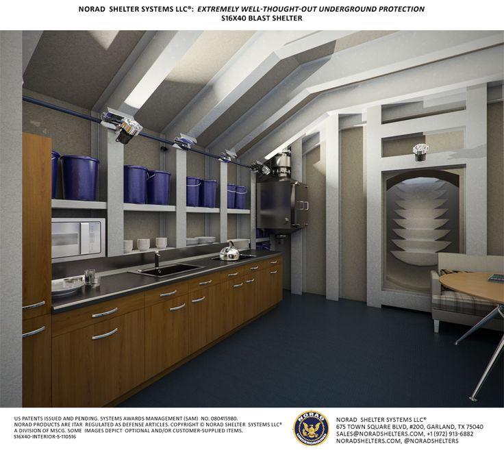S16x40 Fallout Shelter Interior 5 Bomb Shelter Bunker