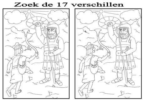 David en Goliath, zoek de verschillen