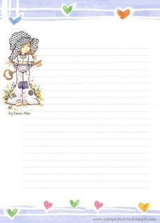 Papéis de Carta e Envelopes - Papel de Carta e Envelope - Papel de Carta e Envelope para imprimir: Sarah Kay