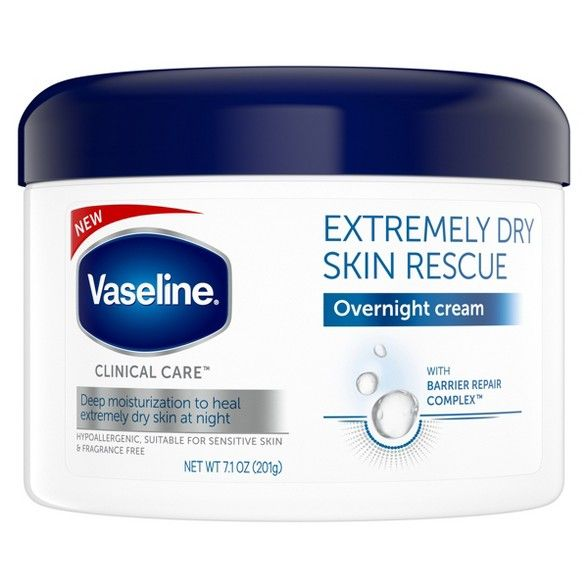 Vaseline Clinical Care Extremely Dry Skin Rescue Overnight Cream 7 1oz Target Extremely Dry Skin Relieve Dry Skin Dry Skin