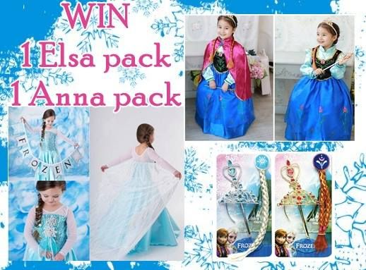 Win 1 Elsa and 1 Anna Dressup Pack including accessories  http://www.whatsonforadelaidefamilies.com.au/Business-Win-A-Complete-Anna-Or-Elsa-Costume-Including-Accessories-For-Family-And-Kids-475