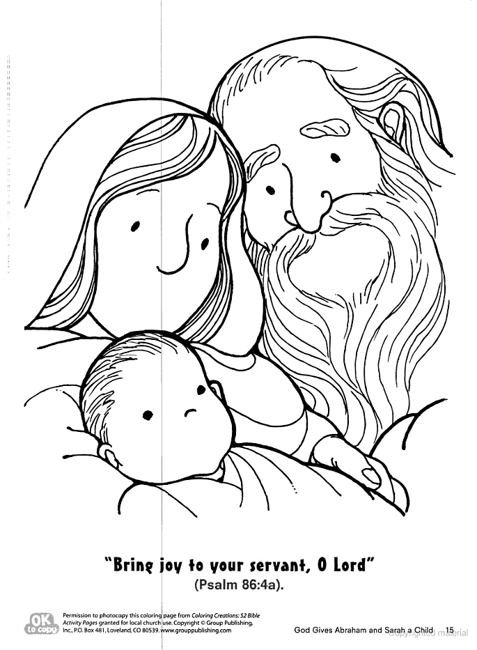 baby isaac bible coloring pages - photo#14