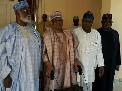 Obasanjo, Babangida, Abdusalami in secret meeting in Minna