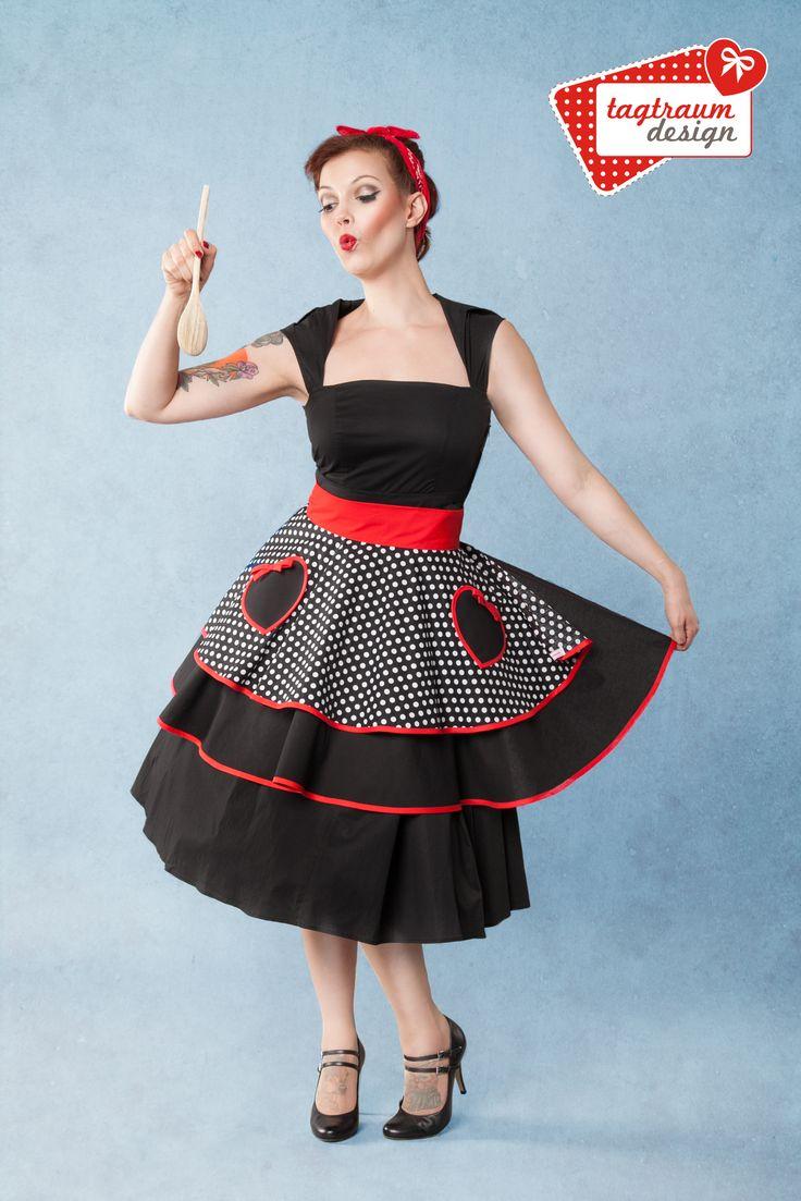 Peggy Sue ♥ Heartbeat ♥ True Love Collection, Half Apron www.tagtraum-design.com