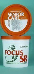 Focus SR - 25 lb (266 days) by Source. $123.95. Provides specialized nutrition for the unique needs of senior horses. As horses age, their metabolic systems become less efficient and immune systems weaken. Focus SR aids in digestion, efficient metabolism, weight maintenance and overall good health. Contains a broad spectrum of at least 60 minerals and trace elements in an organic, highly bioavailable form. Manufacturer Part Numbers: FOCUS SR/25