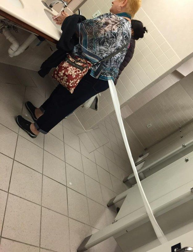 This woman's toilet paper odyssey: | 26 Pictures That Will Make You Have To Laugh To Keep From Crying
