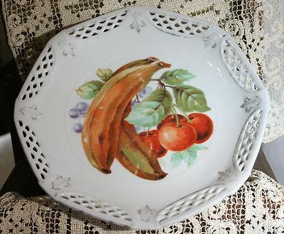 Antique Lattice Fruit Plate & 156 best Decorative plates images on Pinterest | Decorative plates ...