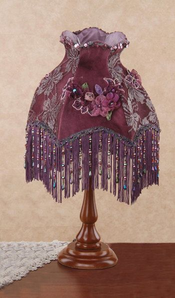 Victorian Lamp by Millanis on Etsy, $39.00 Love the shade to put on a different base.