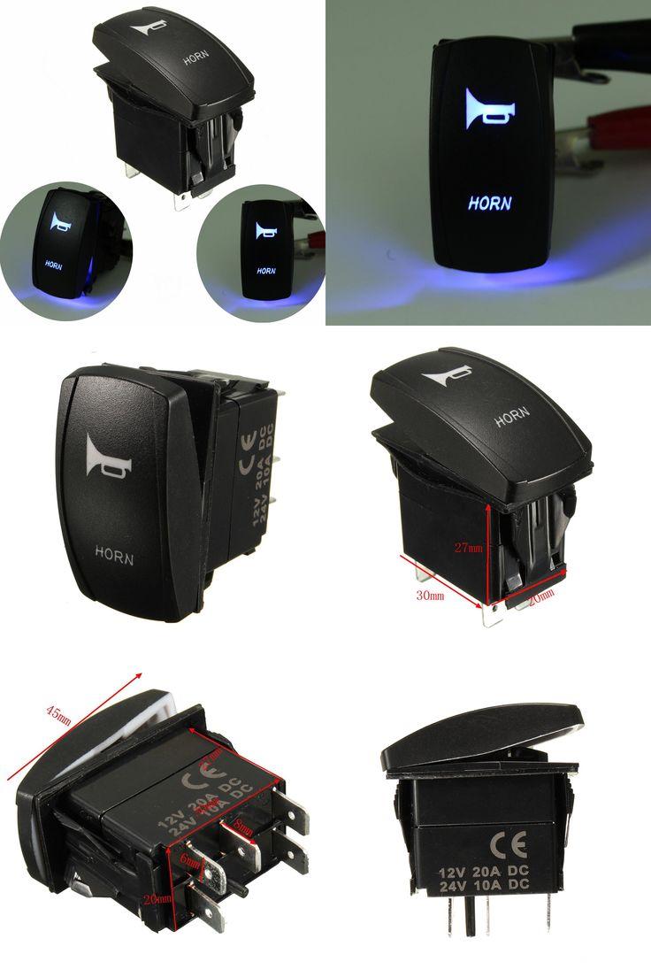 [Visit to Buy] Momentary Car Boat Marine LED Light Horn Bell Laser Rocker Switch 12V/24V On/Off #Advertisement