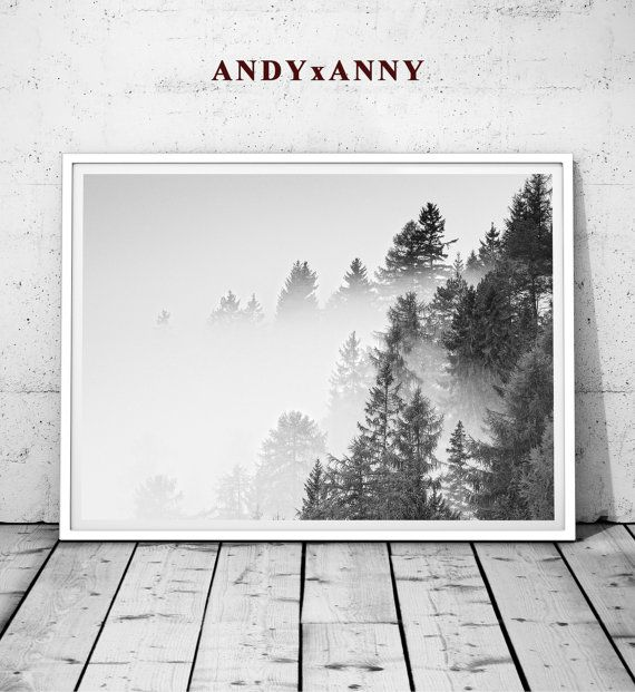 Black white forest forest art minimalist print black white prints forest print minimalist decor forest wall print forest art decor