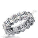 950 Platinum Diamond Eternity Wedding Bands, Prong Setting 8.00 ctw. DEB18145PLT – Size 5.5 950 Platinum Diamond