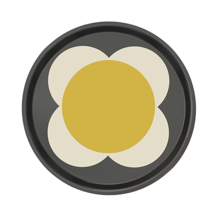 Discover the Orla Kiely Large Spot Flower Round Tray - Denim at Amara
