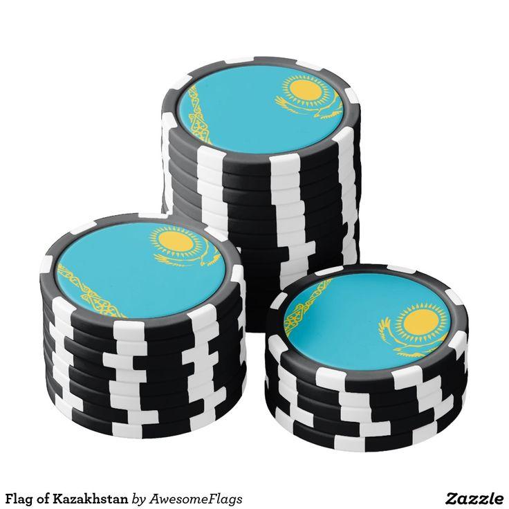 Flag of Kazakhstan Poker Chips