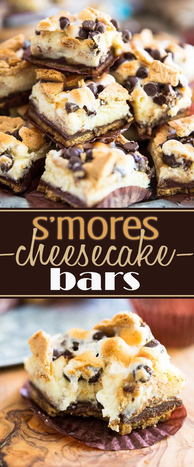 S'mores Cheesecake Bars, it's all the deliciousness of a classic Smores and the…