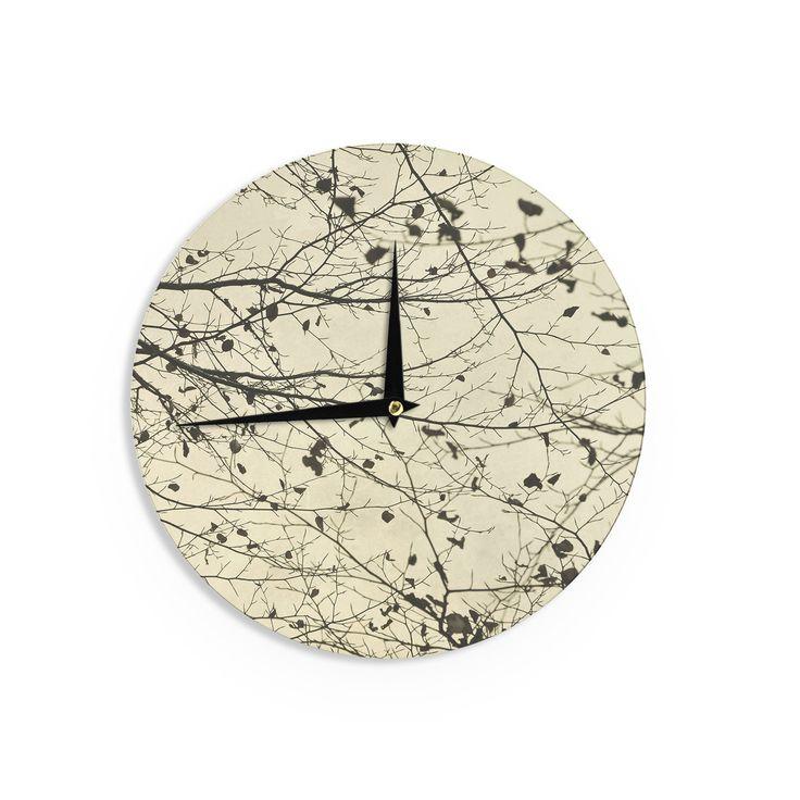 """Iris Lehnhardt """"Boughs Neutral"""" Wall Clock"""