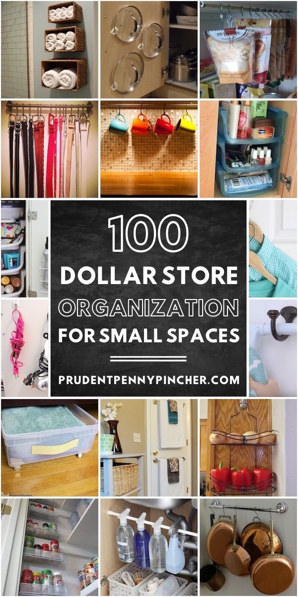 These Dollar Store Organization Ideas For Small Spaces Will Help You Maximize Your Sp Diy Bedroom Storage Small Closet Organization Diy Closet Organization Diy