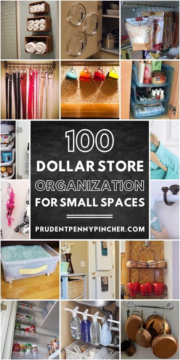 100 Dollar Store Organization Ideas For Small Spaces In 2020 Closet Organization Diy Dollar Store Diy Organization Diy Bedroom Storage