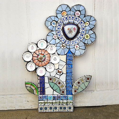 #Mosaics from vintage crockery Not dishes but very cool