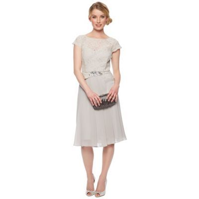 No. 1 Jenny Packham Designer light grey lace dress- at Debenhams.com
