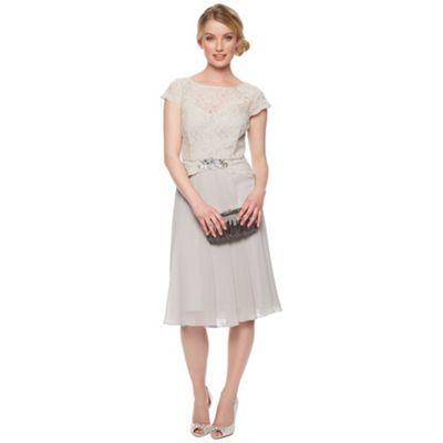No. 1 Jenny Packham Designer light grey lace dress- at Debenhams.com