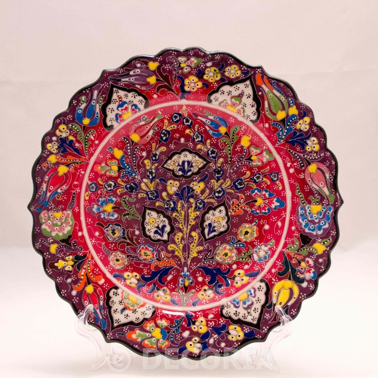 Large Plate - Purple & Red - DECORIA HOME & GIFT