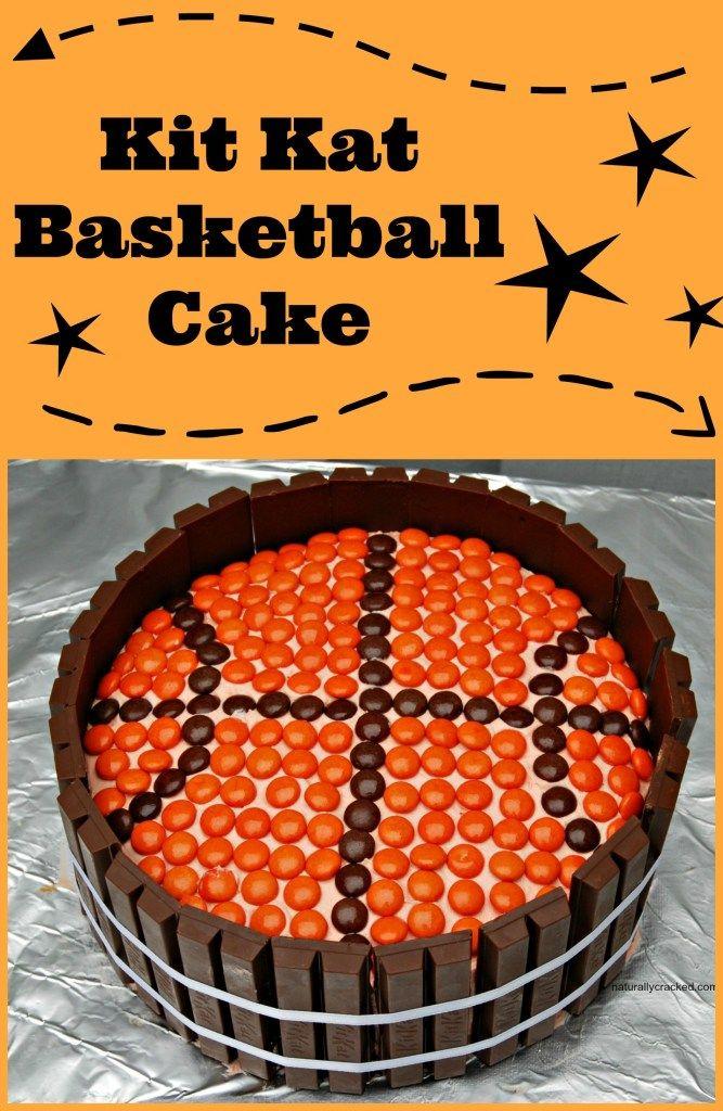 Kit Kat Basketball Cake Naturally Cracked Basketball Cake Cake Competition Cake