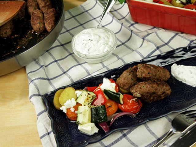 Medelhavsbiffar med rostade grönsaker (kock Jennie Walldén)