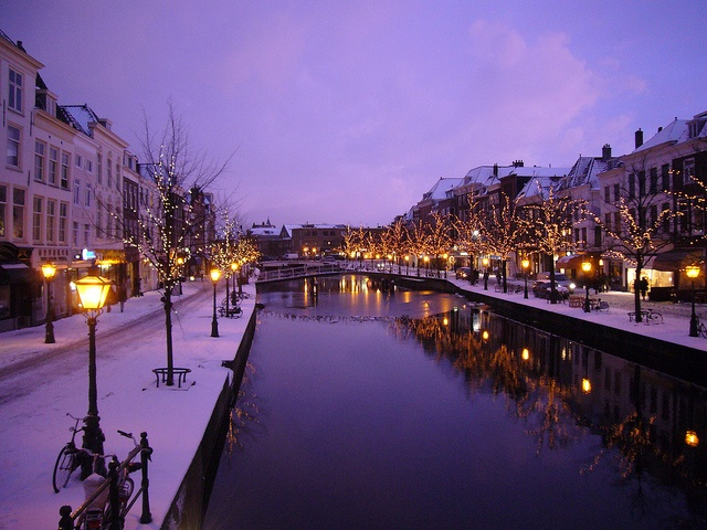 Winter in the city - Leiden, the Netherlands