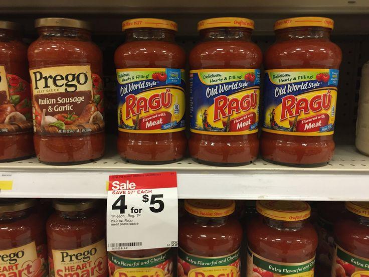 Ragu Pasta Sauce, Only $0.15 at Target!