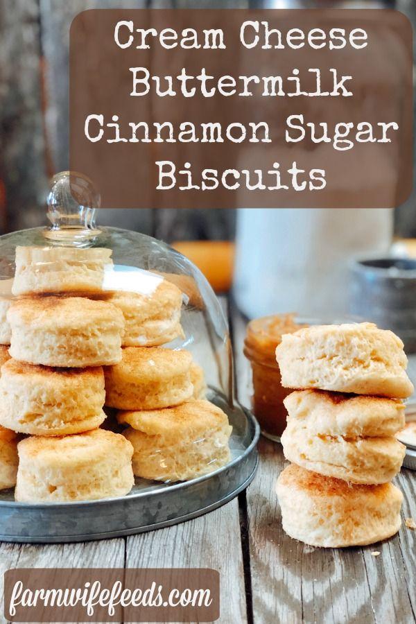 Cream Cheese Buttermilk Cinnamon Sugar Biscuits In 2020 Sugar Biscuits Recipe Sugar Biscuits Cheese Biscuit Recipes