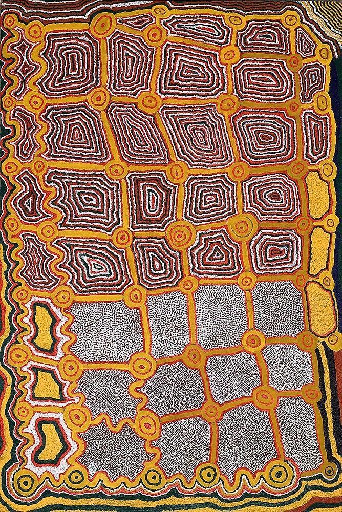 Donkeyman Lee Tjupurrula / Wati Kutjari At Wilkinpa, 1991 180 x 120 cm