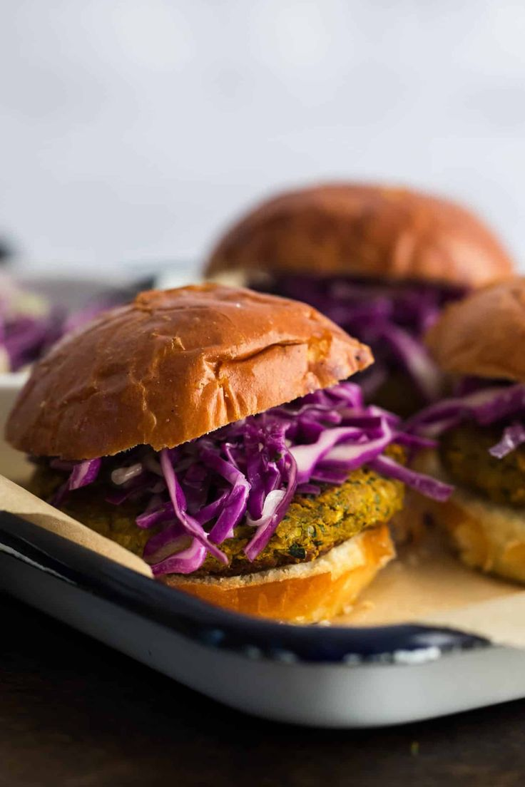 Curry Chickpea Burgers with Coconut Slaw | Naturally Ella