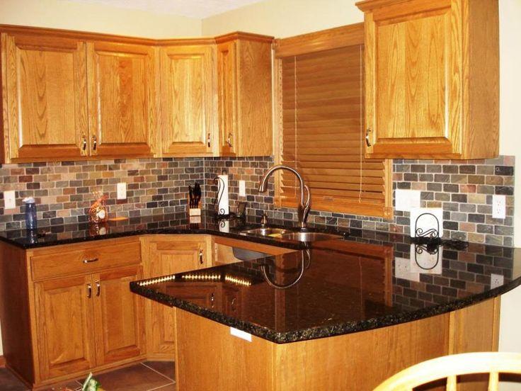 Rustic Kitchen Blue Pearl Granite Countertops