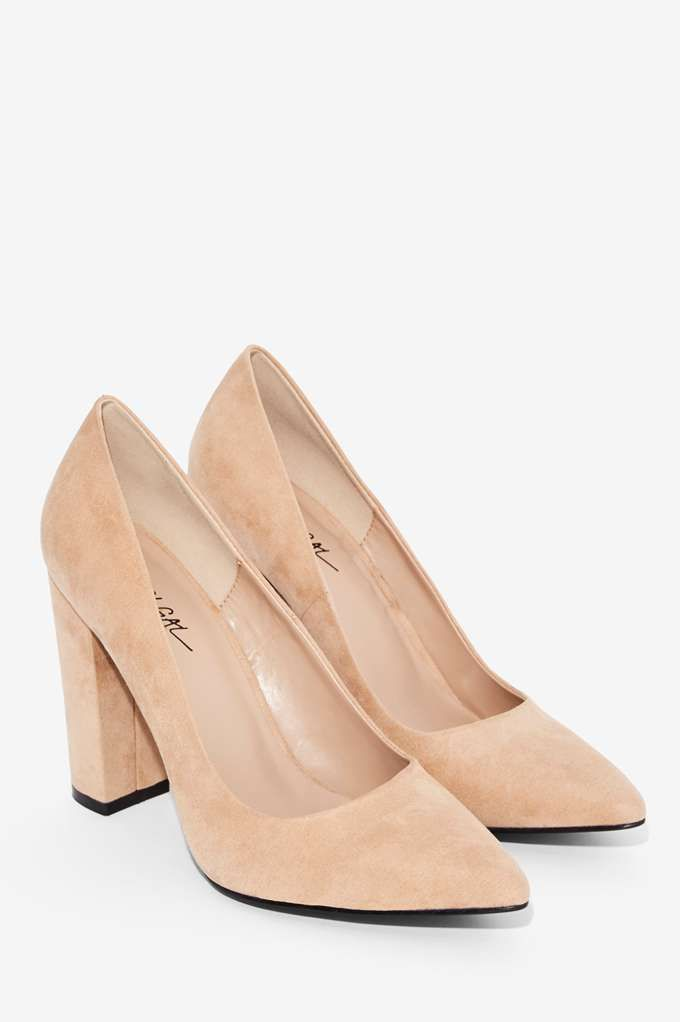 78 Nasty Gal Baxter Vegan Suede Pump - Heels | The All-Nighters | $15-$25
