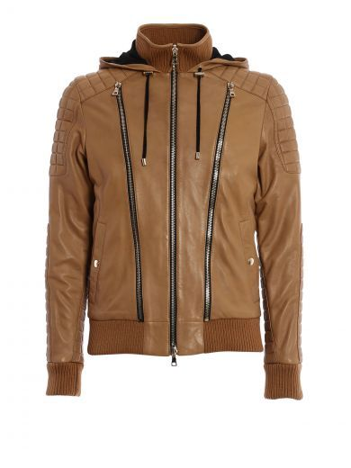 BALMAIN Bomber In Morbida Pelle Di Agnello. #balmain #cloth #coats-jackets