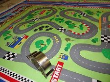 Race Car / Fabric Panel / Cheater Quilt / Sewing / Little Boys Fabric / supplies