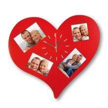 Reloj de pared Corazón con fotos para un amor las 24 h