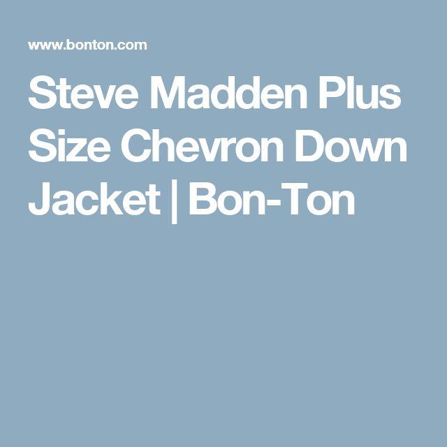 Steve Madden Plus Size Chevron Down Jacket   Bon-Ton