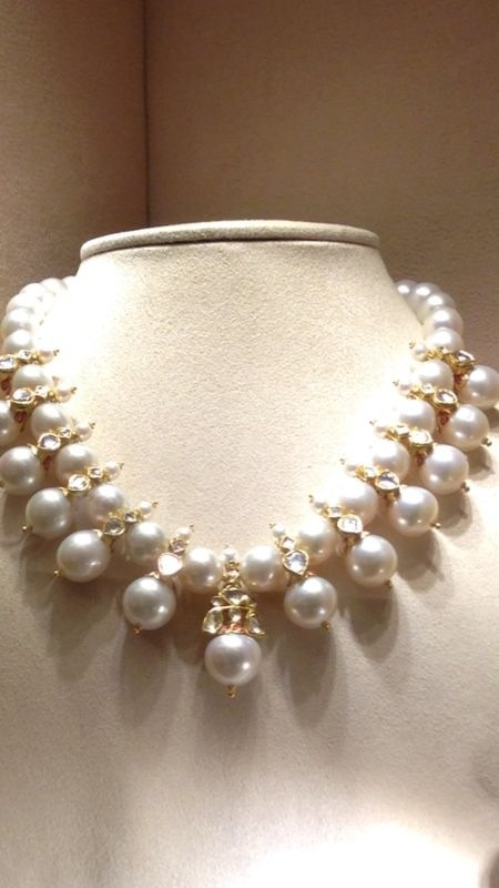 pearl & polki necklace