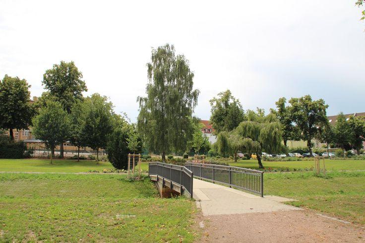 Wanderweg // Brücke im Garten