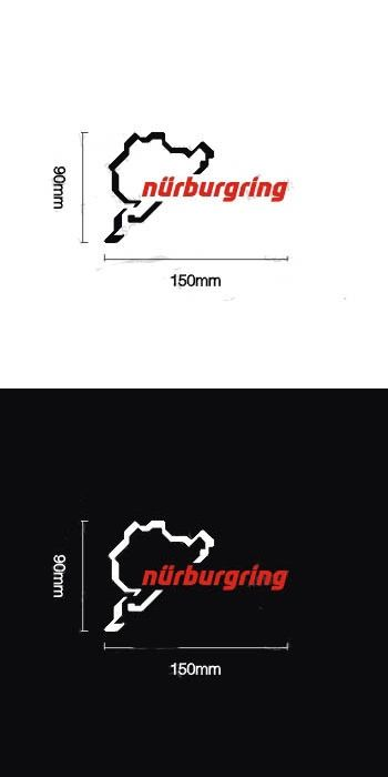 Motorcycle sticker car nurburgring body stickers reflective stickers