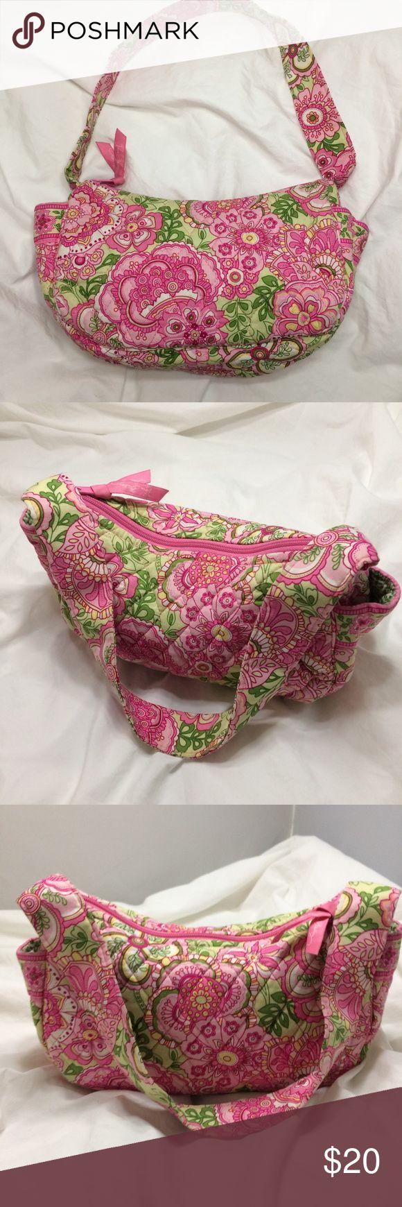 Vera Bradley Handbag Vera Bradley Handbag Multi Floral Print Pink & Green Vera Bradley Bags Satchels