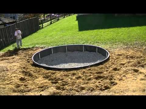 how to make an inground trampoline