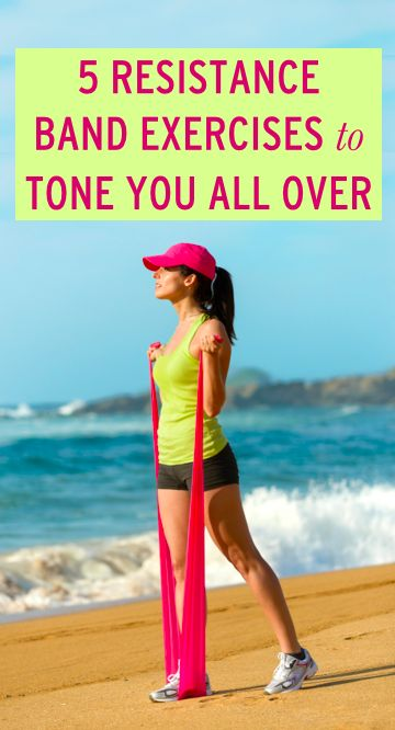 5 Resistance Band #Exercises to Tone You All Over. #Fitness #Workout I keep saying i will do this while watching TV...I really need to get on it!!